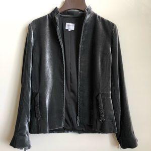 ARMANI Velvet Gray Jacket Size 8